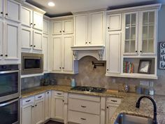 Kitchen Cabinets Highlighted in Van Dyke Brown Glaze Effects | General Finishes Design Center