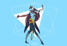 Fan Art based on Overwatch's character Symmetra, by 2Minds Studio