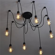 8-Light Chandelier Ambient Light Painted Finishes Metal Candle Style 110-120V / 220-240V Bulb Not Included / E26 / E27 2019 - £ 44.51