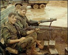 Sawn-off M14 and M79 grenade launcher in Vietnam