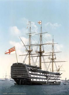 HMS Victory, pride of the British fleet during the Napoleonic Wars