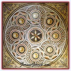 This amazing Roman mosaic floor can be viewed at the Gaziantep Zeugma Mosaic Museum in Turkey. The museum features a exhibition hall and is the world's largest mosaic museum. Tile Art, Mosaic Art, Mosaic Tiles, Marble Mosaic, Mosaic Designs, Mosaic Patterns, Ancient Rome, Ancient Art, Sicis Mosaic