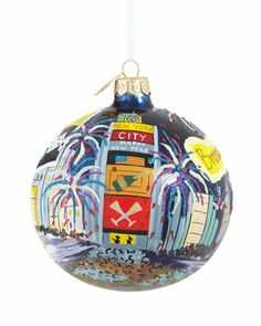 Time Square Ball Christmas Ornament by Landmark Creations at Neiman Marcus.
