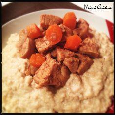 Tajine de poulet aux douces saveurs d'épices et sa semoule crémeuse #Cookeo - Mimi Cuisine