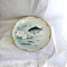 Rosenthal Porcelain Plate Art Nouveau by SilverFoxAntiques Fish Plate, Plate Art, Vintage Plates, Vintage China, Antique Items, Vintage Items, Art Nouveau, Color Of The Day, Art Deco Glass