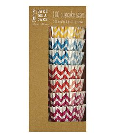 Another great find on #zulily! Zigzag Cupcake Liners - Set of 100 #zulilyfinds