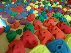 Massive array of holds by Planetary Holds, at Stone Age Climbing Gym, Albuquerque Rock Climbing Holds, Climbing Wall, Stone Age, Hold On, Dinosaur Stuffed Animal, Walls, Gym, Awesome, Ideas
