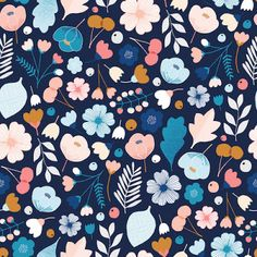 Fabric Patterns Dashwood Studios - Millefleur Yardage - Millefleur is a collection of fun, one-off prints from Dashwood Studio which hails from UK cotton fabric Ordering: ------------- Choose the dimension you want to order and then the quantity. Motifs Textiles, Textile Patterns, Print Patterns, Flower Patterns, Trendy Wallpaper, Wallpaper Backgrounds, Wallpapers, Surface Pattern Design, Pattern Art