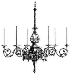 halloween chandelier clipart