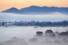 Morning fog over Mudgee. photo by Amber Hooper. First Photo, Nature Photography, River, Mountains, Places, Beautiful Things, Projects, Outdoor, Image