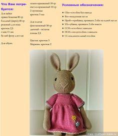 Зайка крючком - схема вязания игрушки / Схемы вязания игрушек / Бэйбики. Куклы фото. Одежда для кукол Easter Crochet Patterns, Crochet Bunny Pattern, Crochet Amigurumi Free Patterns, Crochet Bear, Crochet Animals, Crochet Dolls, Knitted Bunnies, Braided Rag Rugs, Cross Quilt