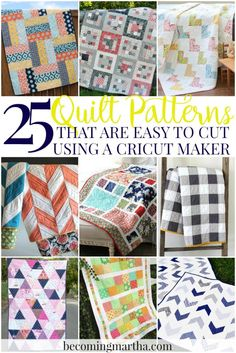 Cricut Maker Quilt - 25+ Patterns Easy to Cut with Cricut Maker