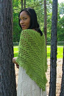 The perfect elegant accessory for any occasion. It's lightweight and has a nice drape. If you are looking for a show piece that will get the attention of everyone but need a quick project too, the Dixie Charm Shawl is the perfect project.