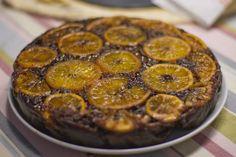 Torta rovescia cioccolato amaro e arance candite  #CosmoKitchen