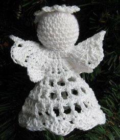 """Képtalálat a következőre: """"crochet angel ornament pattern free"""" Angel Crochet Pattern Free, Crochet Pattern Central, Crochet Ornament Patterns, Crochet Angels, Tatting Patterns, Free Crochet, Hat Patterns, Crochet Christmas Trees, Crochet Christmas Ornaments"""