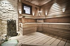 Myynnissä - Omakotitalo, Leppäkorpi, Vantaa:  #oikotieasunnot #sauna #kiuas Diy Sauna, Sauna Design, Maximilian, Finnish Sauna, Sauna Room, Zen Space, Weekend House, Spa Rooms, Steam Room