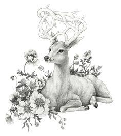 Floral Horn by Melani Huggins