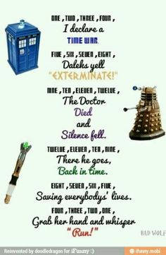 """They do say """"run"""" an awful lot in Dr. Who.... This also makes me want to sing this randomly"""