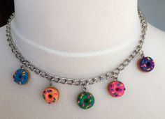 A personal favorite from my Etsy shop https://www.etsy.com/ca/listing/470121000/donut-polymer-clay-charm-choker-necklace