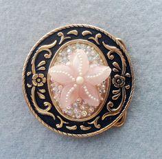 Western star Rose quartz belt buckle Bling by EyesofAnastasia
