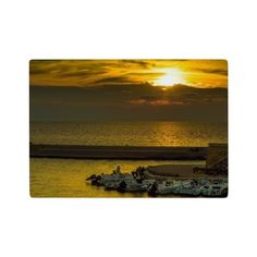 Where the boats are sleeping Glass Cutting Board on CafePress.com