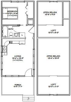 2nd Floor Plan, 1 bedroom, 1 car | Garage Apartment | Pinterest ...