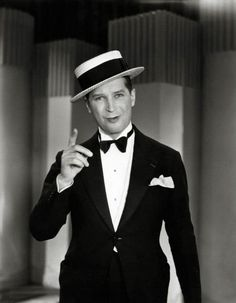 Maurice Chevalier & his stylized boater