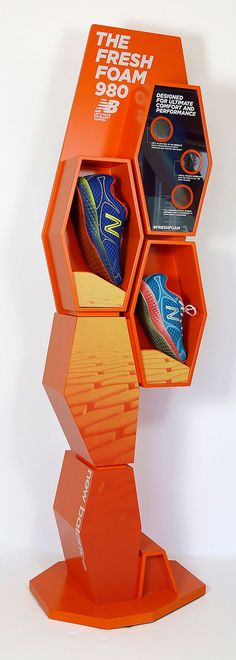 New Balance Fresh Foam Tower (callouts are magnifying glasses to see the shoe close up)