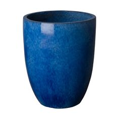 This Round Tall planter is crafted of ceramic with a Blue glaze. Suitable for outdoor and indoor use. Adds color and texture to your home or garden. Tall Planters, Ceramic Planters, Planter Pots, Large Containers, Outdoor Material, Container Size, Ceramic Materials, Household Cleaners, Glazed Ceramic