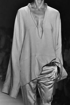 Slouchy tunic top & silk trousers; fashion details // Haider Ackermann Spring 2015