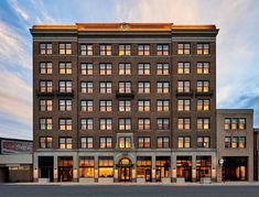 Set in a converted 1925 office building, this boutique hotel offers vintage chic rooms, an industrial style restaurant and bar plus a rooftop bar with views of the Appalachian Mountains.
