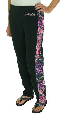 Moon Shine Camo Muddy Girl Black Athletic Sweatpants (XXLT)