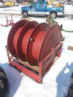 Hannay C44-45-46-30RT Hose Reel SHOP JUNKYARD STORE $500 CAN SHIP CALL LEO 314-852-4482 FOR ALL INFO THANKS