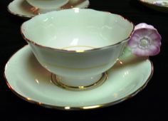 PARAGON FLOWER HANDLE POPPY TEACUP and Saucer  $ 85.00