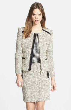 Vince Camuto Tweed Jacket available at #Nordstrom