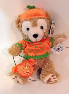NEW Disney Parks Exclusive DUFFY The Disney Bear Halloween Pumpkin Costume Plush