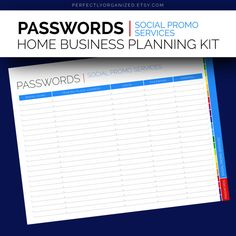 Passwords Keeper Log Social Promo Services by PerfectlyOrganized, $2.00