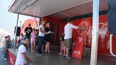 Wheel of Fortune at the Coca-Cola HBC open day at Edelstat, Austria