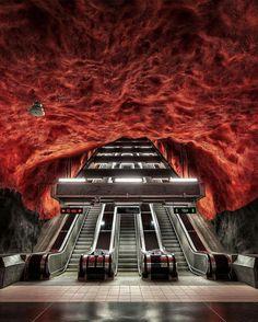 Stockholm Underground, Sweden. Photo by @elialocardi