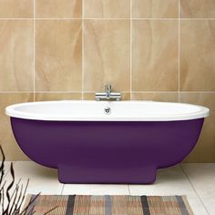 Ruby Freestanding Bath with Purple Surround