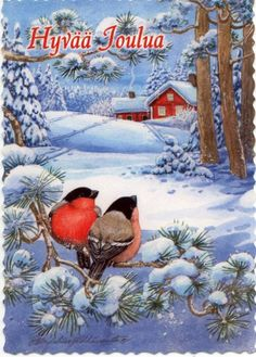 Christmas 2017, Xmas, Clipart, Birds, Quilts, Winter, Painting, Magic, Winter Time