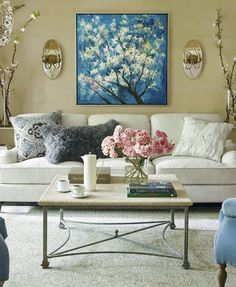Bearing the name of one of Paris' most elegant gardens, near the Arc de Triumph, our Parc Monceau Painting comes alive with texture and vibrant color. Linen Sofa, Upholstered Furniture, Sectional Furniture, Outdoor Furniture, Living Room Furniture, Living Room Decor, Living Rooms, Family Rooms, Living Spaces