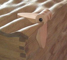 Wooden hinge detail
