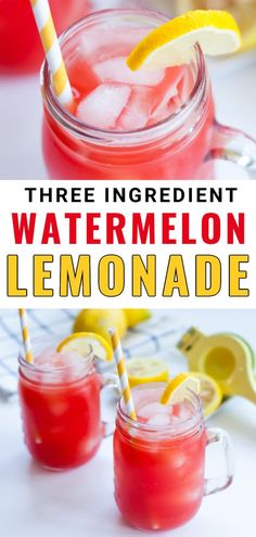 This easy Watermelon Lemonade recipe is perfect for summer for hydration and to use up leftover watermelon from your summer parties . No juicer is needed to make this refreshing beverage. Spiked Watermelon, Watermelon Lemonade, Watermelon Recipes, Easy Whole 30 Recipes, Healthy Summer Recipes, Spring Recipes, Easy Recipes, Chef Recipes, Real Food Recipes