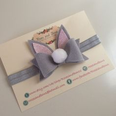 Cottom Tail Easter Bunny Bow  Easter Bow  by RosesandBowsShop