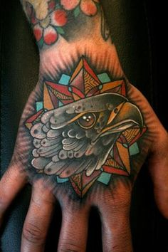 Eagles are one of the most majestic animals on the planet, and they just so happen to look damn good in tattoos. Enjoy this gallery of eagle tattoos. Hand Tattoos, Eagle Tattoos, Sleeve Tattoos, Badass Tattoos, Cool Tattoos, Falke Tattoo, Traditional Eagle Tattoo, Traditional Sleeve, Tattoo Traditional