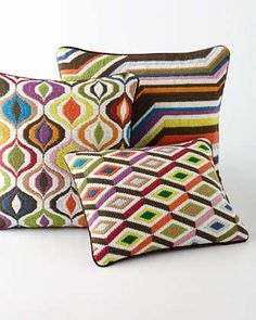 Bargello Pillows by Jonathan Adler at Neiman Marcus.