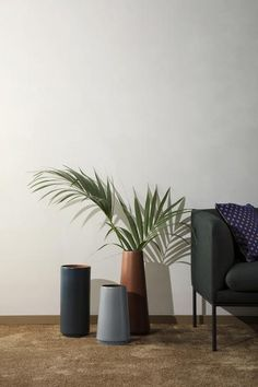 You can never have enough vases. The ferm LIVING dual floor vase features soft shapes and colours to accentuate your interior design. Vase Haut, Vase Deco, Vase Design, Paper Vase, Wooden Vase, Green Vase, Vase Shapes, Vase Fillers, Contemporary Home Decor