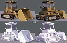 Tractor lowpoly | 3D model