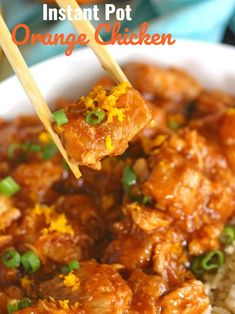 Instant Pot Orange Chicken is healthier than takeout and easy to make using your Instant Pot. Made with fresh orange juice and orange zest for great flavor. #instantpot #pressurecooker #asianfood #chickendinner #sweetandsavorymeals Frozen Chicken Recipes, Chicken Recipe Instant Pot, Ip Chicken, Diced Chicken, Honey Chicken, Chicken Legs, Chicken Breasts, Pressure Cooker Chicken, Instant Pot Pressure Cooker